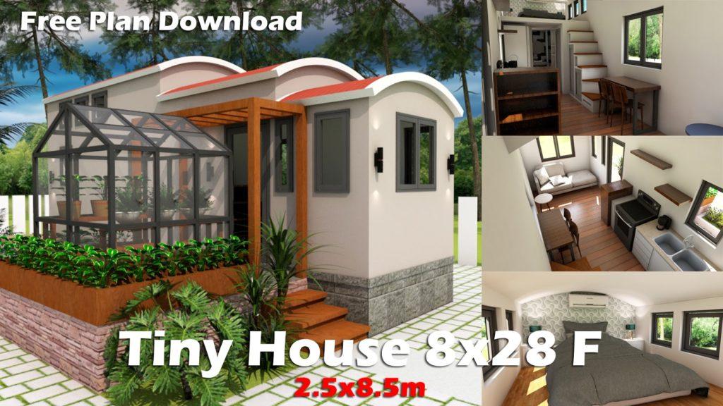 Dream Tiny House with Green house and Interior Design - Sam Phoas Home