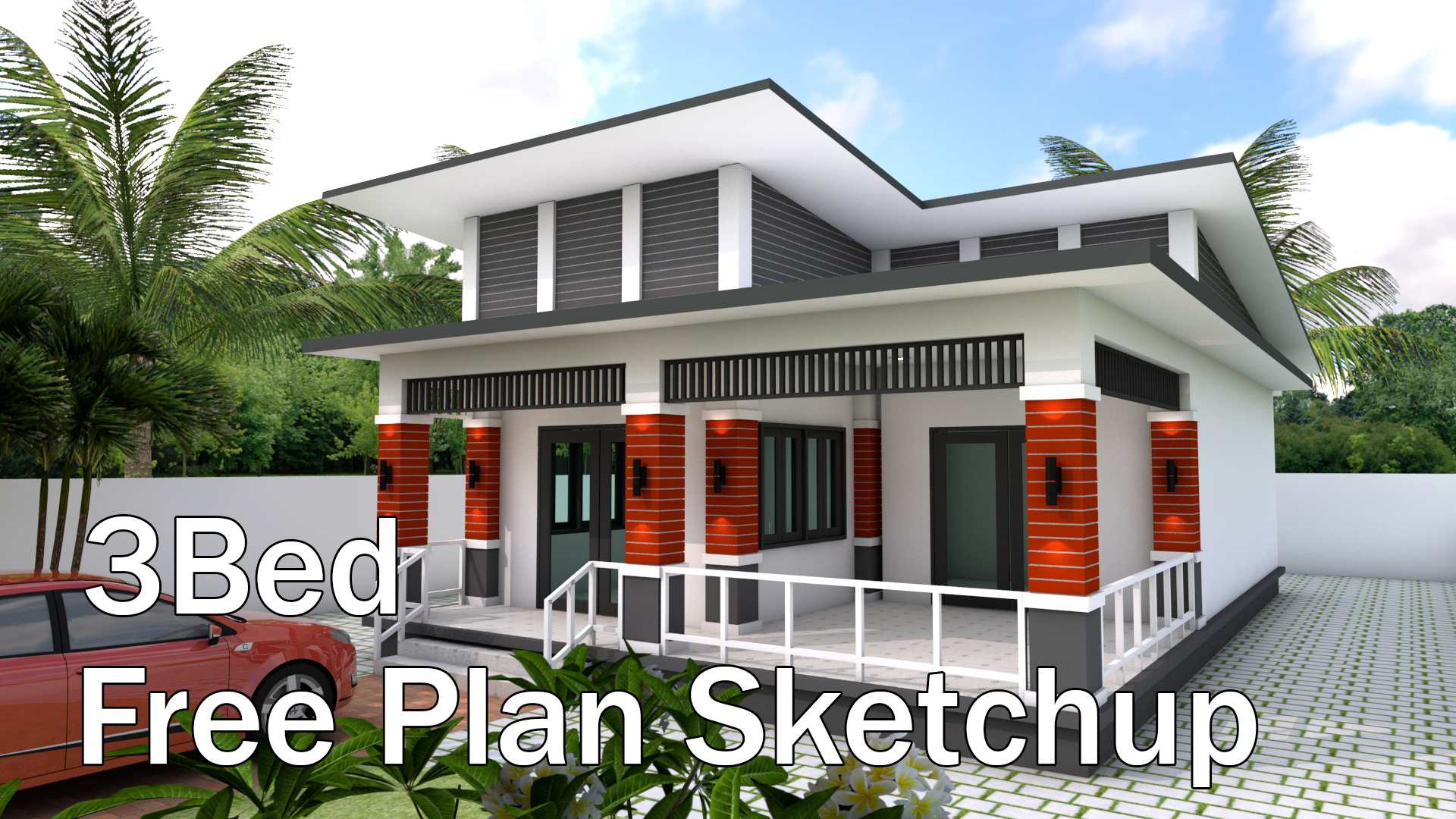 bungalow house design 9135 meter with 3 bedrooms - Bungalow House With 3 Bedrooms
