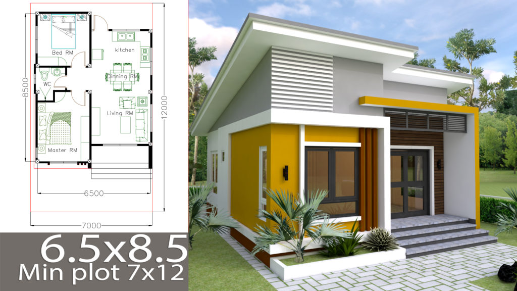 Small Home design Plan 65x85m with 2